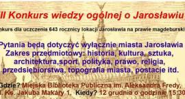 III Konkurs wiedzy ogólnej o Jarosławiu