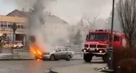 Pożar auta na ul. Węgierskiej w Jarosławiu