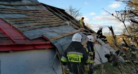 Zerwany dach w Pruchniku