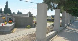 Nowe ogrodzenie na Nowym Cmentarzu