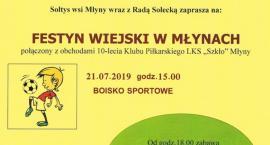 Festyn Wiejski i 10-lecie LKS Szkło Młyny
