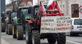 Protestujący rolnicy przejechali przez Jarosław