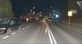 Potrącenie pieszego na przejściu w Szówsku