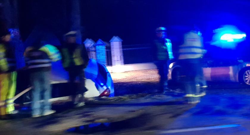 Wypadki drogowe, Ciężarna kobieta trafiła szpitala zdarzeniu Elżbiecinie! - zdjęcie, fotografia