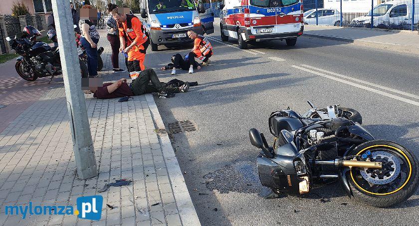 Wypadki drogowe, Wypadek motocyklisty osoby szpitalu [FOTO] - zdjęcie, fotografia