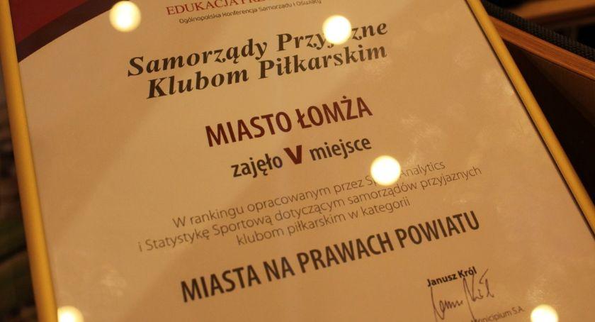 Prezydent Łomży, Łomża wśród Samorządów Przyjaznych Klubom Piłkarskim - zdjęcie, fotografia
