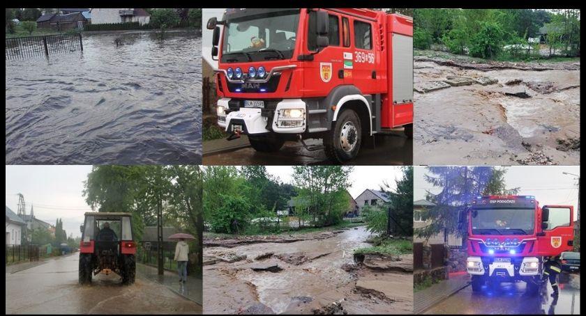 Pożary i interwencje straży, Chaos ulewie! [FOTO] - zdjęcie, fotografia