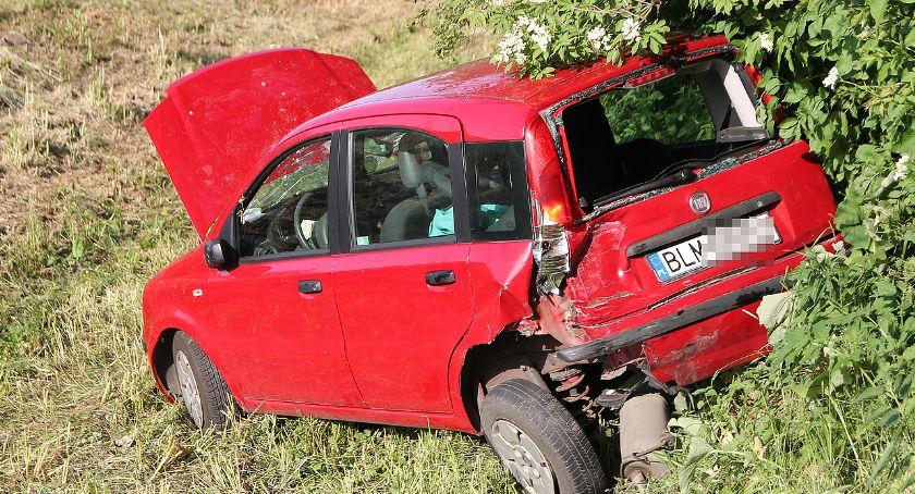 Wypadki drogowe, Kierująca szpitalu wypadku [FOTO] - zdjęcie, fotografia