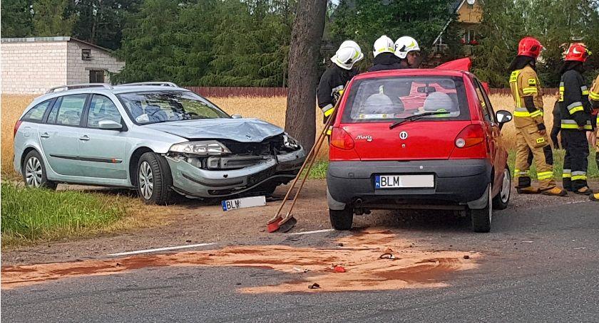 Wypadki drogowe, Wypadek Rydzewie Jedna osoba szpitalu [FOTO] - zdjęcie, fotografia