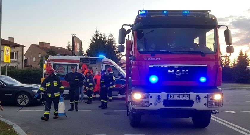 Wypadki drogowe, Rowerzysta szpitalu potrąceniu Sikorskiego [FOTO] - zdjęcie, fotografia