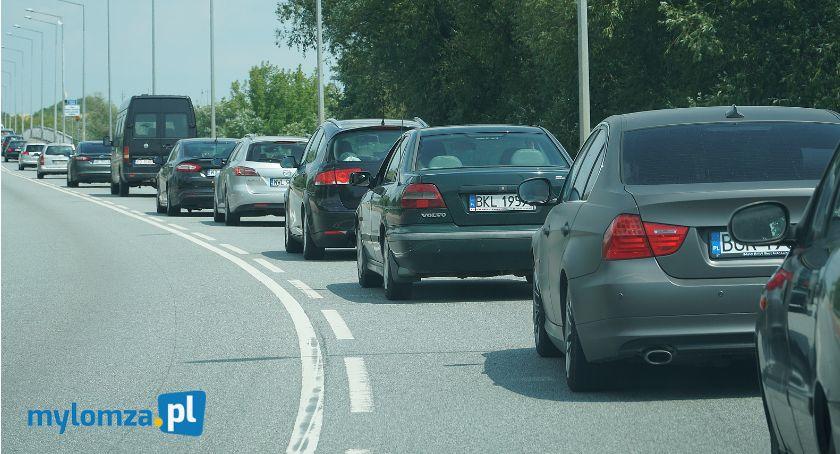 Interwencje, Łomża Piątnica Olbrzymie korki mostach [FOTO] - zdjęcie, fotografia