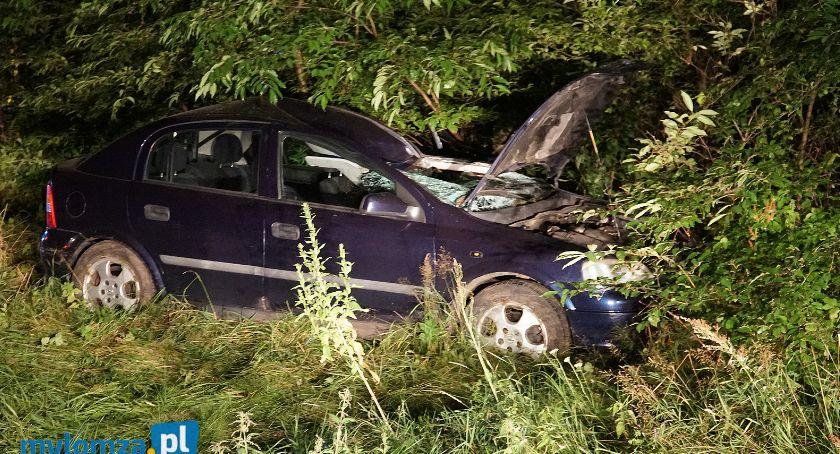 Wypadki drogowe, Dębniki osoby szpitalu wypadku łosiem [FOTO] - zdjęcie, fotografia