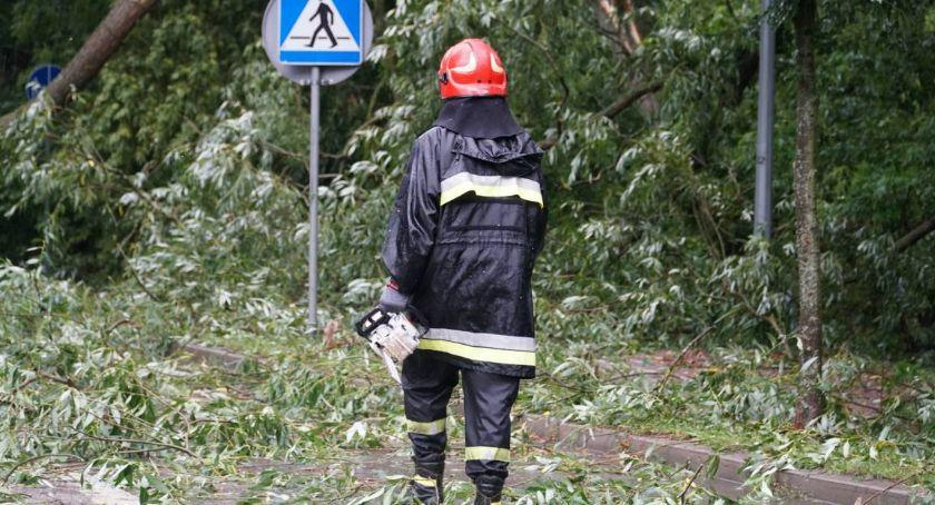 Pożary i interwencje straży, Ulewa regionem Łomża miała szczęście - zdjęcie, fotografia