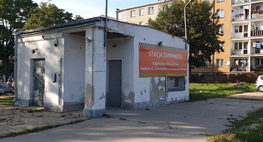 Prezydent Łomży, Miasto przejąć działkę stacji ORLEN - zdjęcie, fotografia
