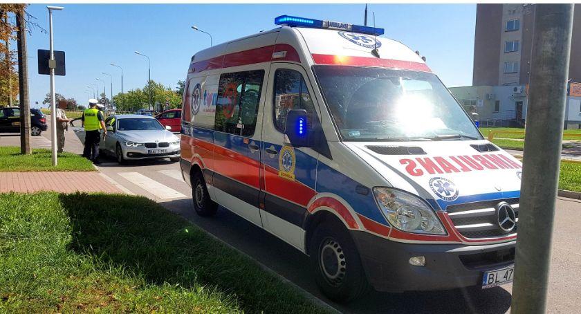 Wypadki drogowe, Potrącenie Piłsudskiego Kobieta szpitalu [FOTO] - zdjęcie, fotografia