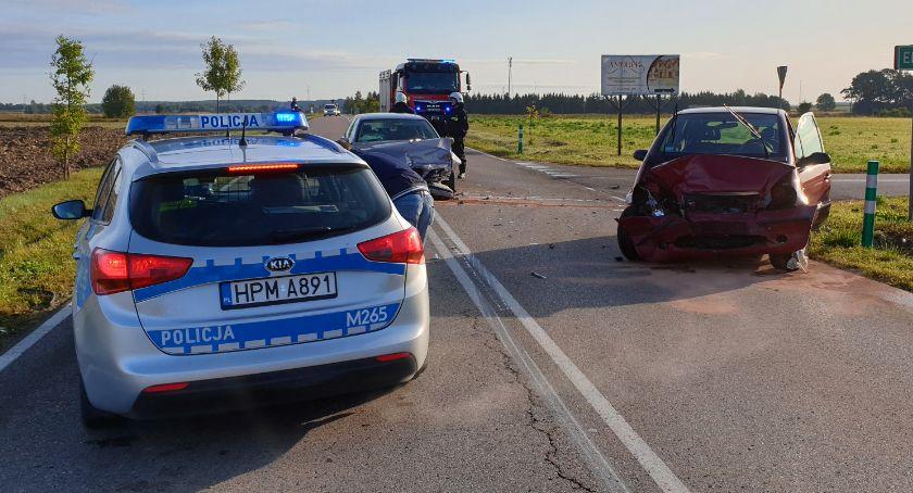 Wypadki drogowe, Poranne zderzenie drodze Piątnica Jeziorko Jedna osoba szpitalu [FOTO] - zdjęcie, fotografia