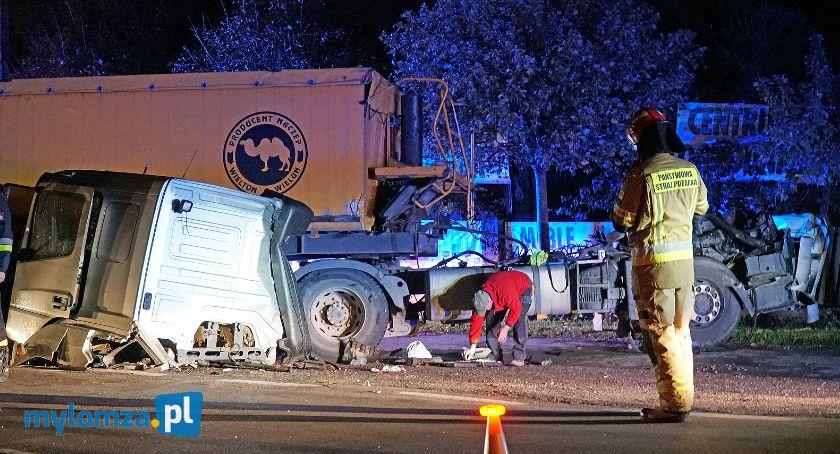 Wypadki drogowe, Zerwana kabina tira! Groźne zdarzenie udziałem ciężarówki [FOTO] - zdjęcie, fotografia