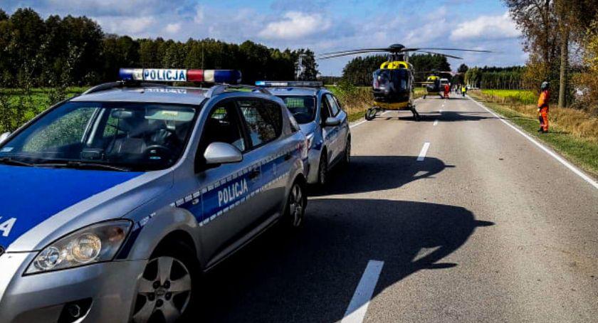 Wypadki drogowe, Groźny wypadek regionie Lądowały śmigłowce - zdjęcie, fotografia