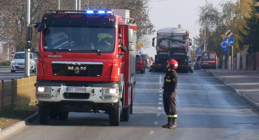 Pożary i interwencje straży, ulicach Łomży [FOTO] - zdjęcie, fotografia