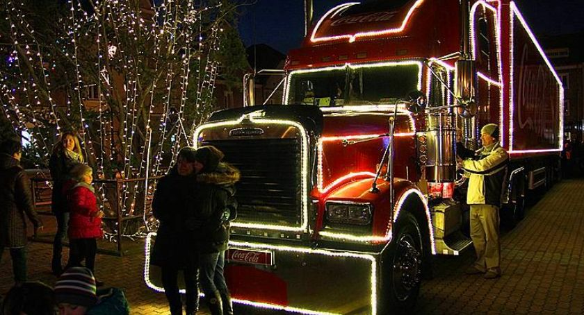 Ciekawostki, świąteczna ciężarówka przyjedzie Łomży - zdjęcie, fotografia