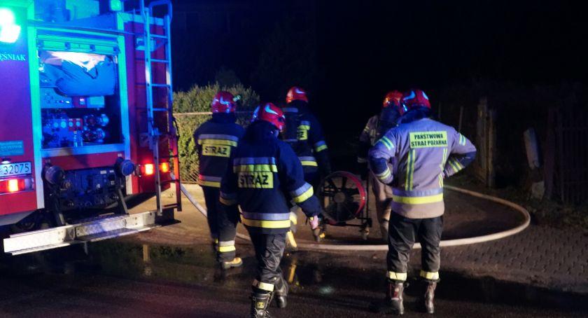 Pożary i interwencje straży, Pożar Zdrojowej Mężczyzna trafił szpitala [FOTO] - zdjęcie, fotografia