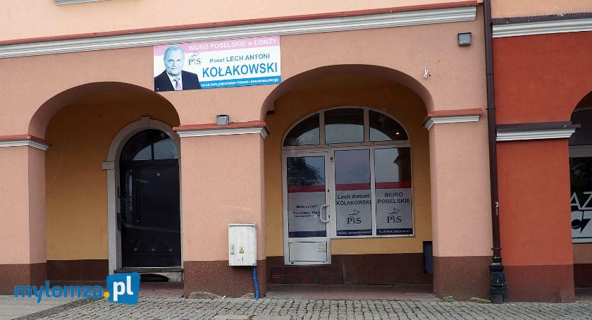 Posłowie łomżyńscy, biuro posła Lecha Kołakowskiego - zdjęcie, fotografia