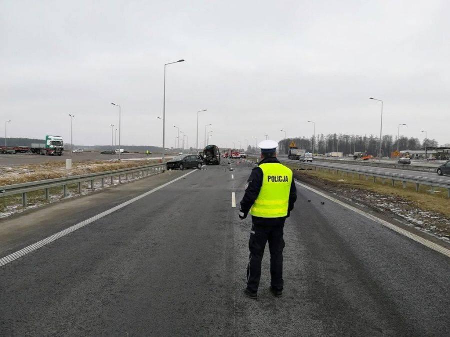 Region, Jeżewo Stare osoby zginęły wypadku droga zablokowana - zdjęcie, fotografia