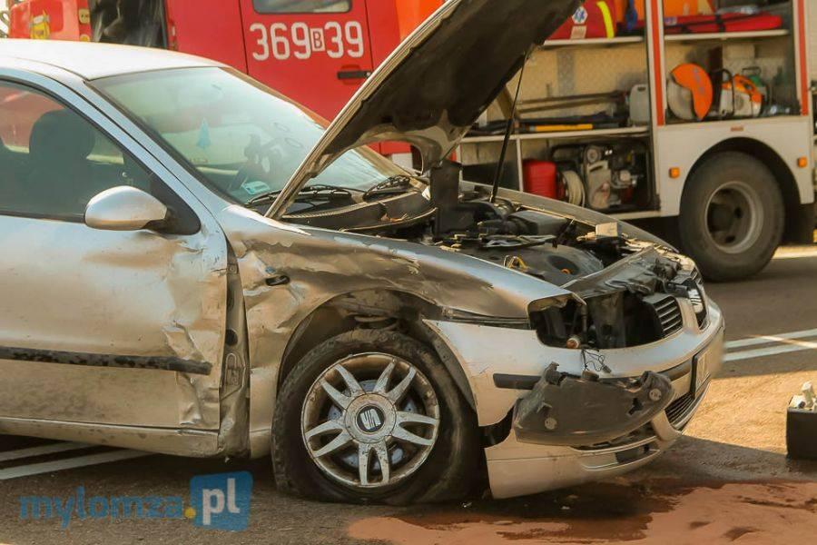 Region, Zablokowana droga Wiźnie zderzeniu dwóch pojazdów [FOTO] - zdjęcie, fotografia