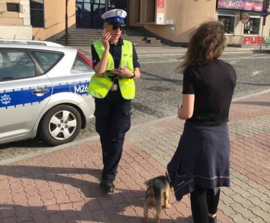 Newsy, Policjanci pilnowali okolic przejść pieszych [FOTO] - zdjęcie, fotografia
