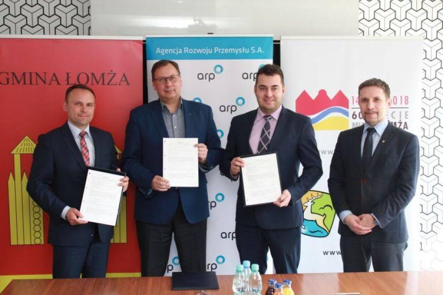 Newsy, Agencji Rozwoju Przemysłu rozpoczyna współpracę miastem gminą Łomża - zdjęcie, fotografia