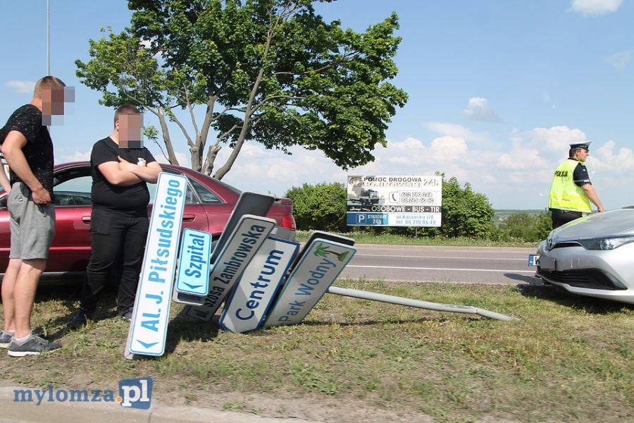 Newsy, Kolizja Szosie Zambrowskiej poszły znaki! [FOTO] - zdjęcie, fotografia