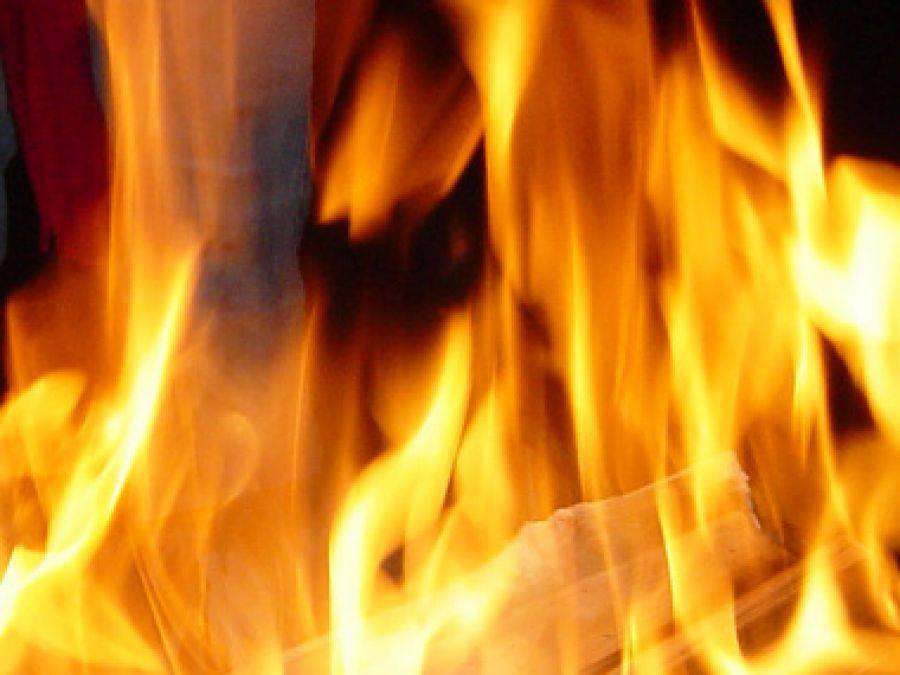 Region, Młody mężczyzna oblał benzyną podpalił! - zdjęcie, fotografia