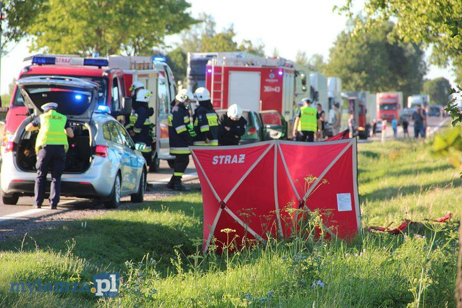 Region, Śmiertelny wypadek motocyklisty Marianowem [FOTO] - zdjęcie, fotografia