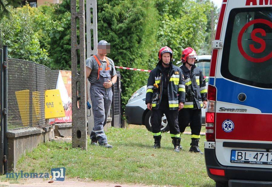 Łomża, Wypadek Sikorskiego Kierująca szpitalu [FOTO] - zdjęcie, fotografia
