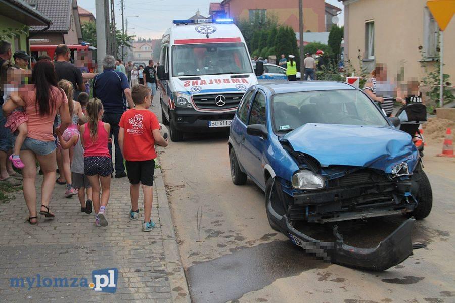 Region, Wypadek skrzyżowaniu Jedwabnem osoby szpitalu - zdjęcie, fotografia
