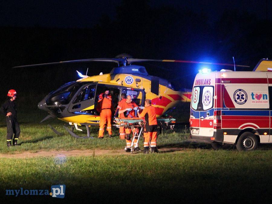 Region, Spadł ciągnika Trafił śmigłowcem szpitala Warszawie [VIDEO FOTO] - zdjęcie, fotografia