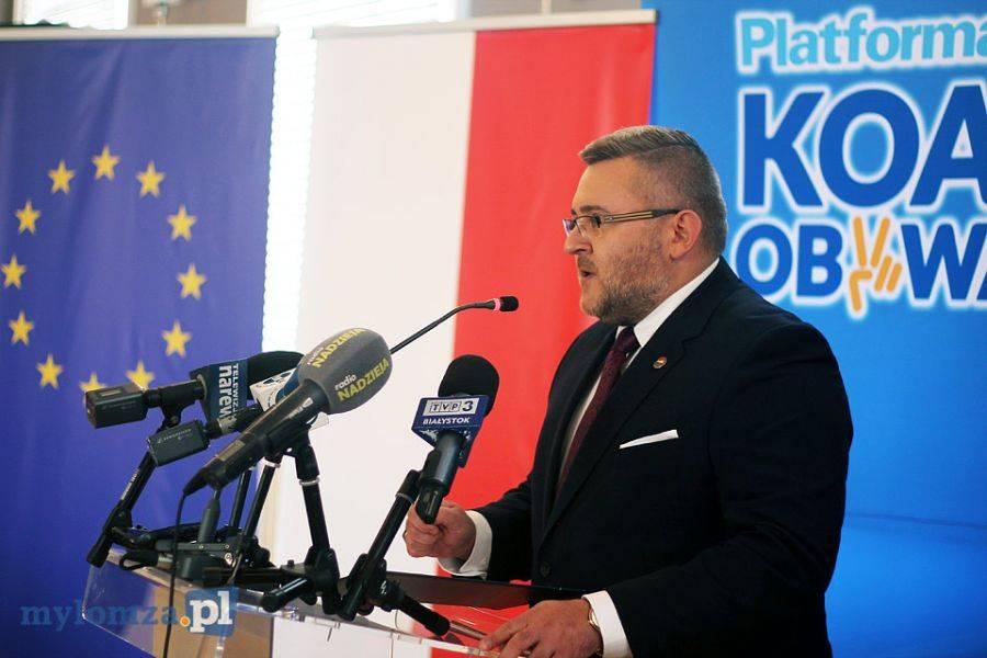 Partie polityczne, [LIVE] Konferencja prasowa Platformy Obywatelskiej Łomży - zdjęcie, fotografia