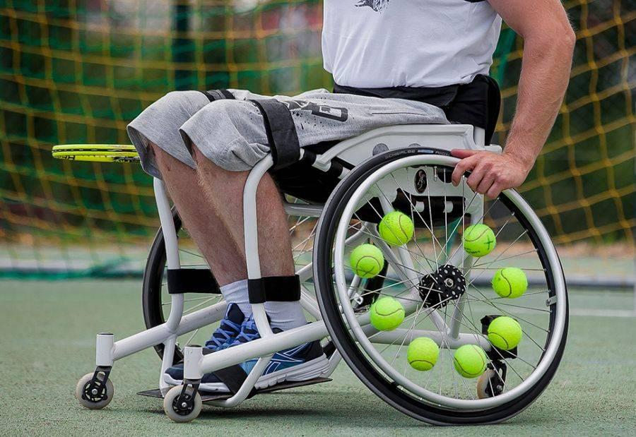 Tenis ziemny tenis stołowy badminton, edycja Turnieju Tenisa Wózkach Łomża - zdjęcie, fotografia