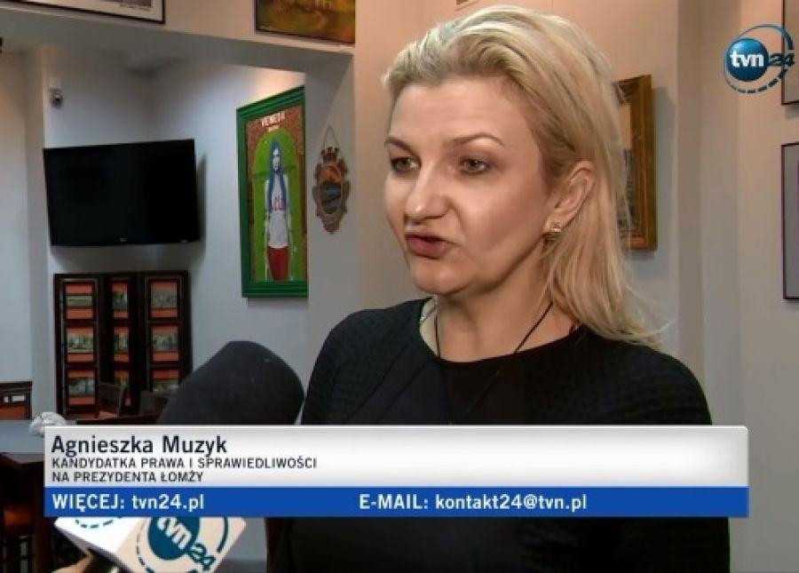 Interwencje, TVN24 Agnieszka Muzyk komentuje wygraną Chrzanowskiego - zdjęcie, fotografia