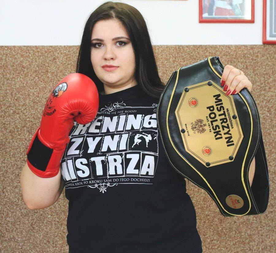 Boks, Tańcząca ringu studentka PWSIiP [FOTO] - zdjęcie, fotografia