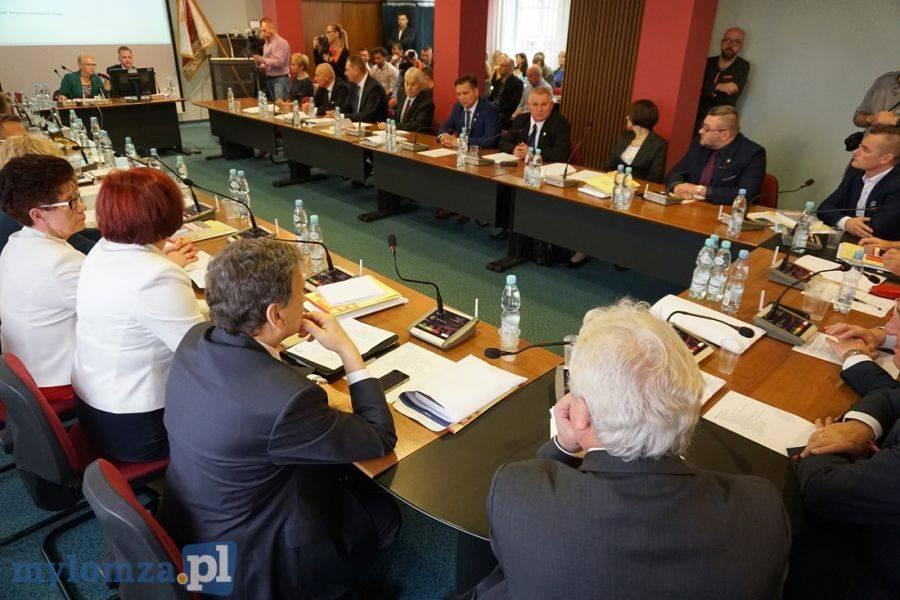 Rada Miejska w Łomży, Sesja przerwana udało wyłonić wiceprzewodniczących [FOTO VIDEO] - zdjęcie, fotografia