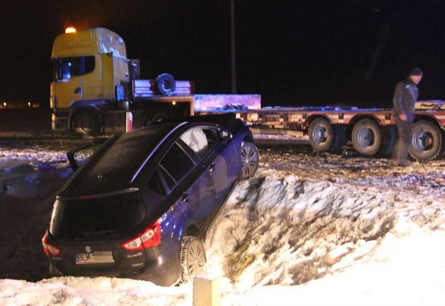 Region, Zablokowana droga wypadku Drogoszewie [FOTO] - zdjęcie, fotografia