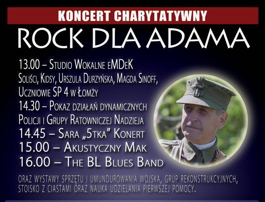 Akcje charytatywne, Adama Koncert sobotę - zdjęcie, fotografia