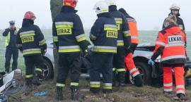 Rogienice Wielkie: Tragiczny wypadek. Nie żyje pasażer [FOTO]