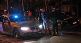 Rozbite audi! Szaleńczy pościg za pijanym kierowcą ulicami Łomży [FOTO]