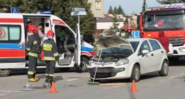Łomża: Zderzenie przy Straży Pożarnej [FOTO]