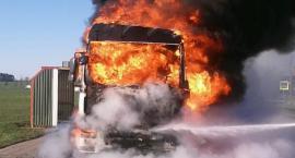 DK61: Spłonęła ciężarówka [FOTO]