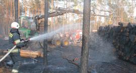 80 strażaków gasiło wielki pożar na granicy powiatów [VIDEO i FOTO]