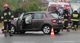 Niebezpieczne skrzyżowanie. Wypadek na trasie Łomża – Ostrołęka [FOTO]