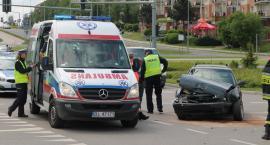 Łomża: Zderzenie na rondzie Solidarności [FOTO]
